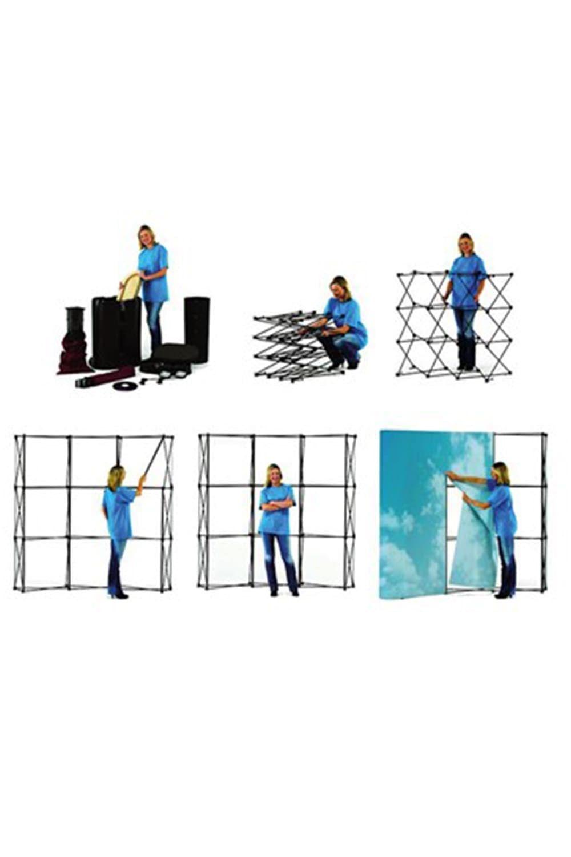 Örümcek Stand 3 Panel Oval (3×3)