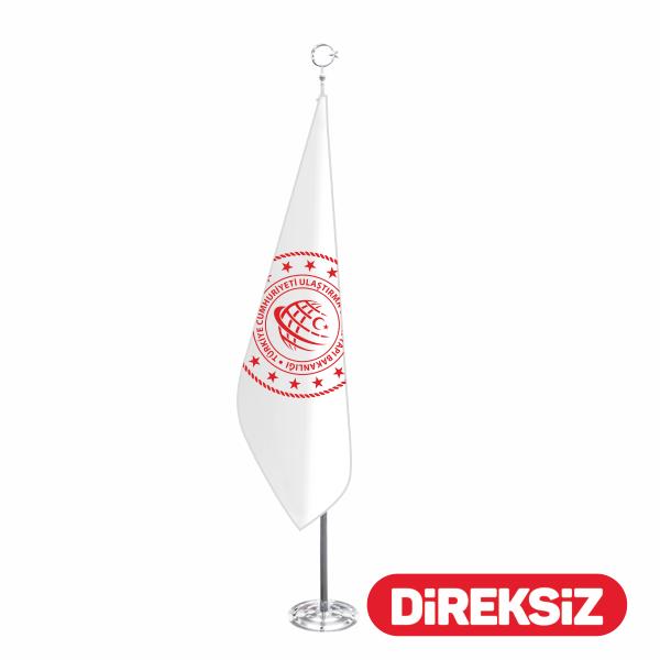 Telalı - Simli Özel Logolu Makam Bayrağı 100x150 cm
